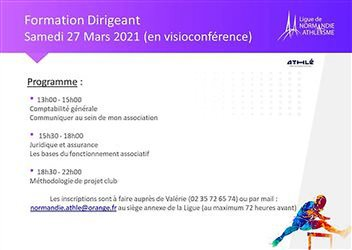 Formation Dirigeant le 27 mars